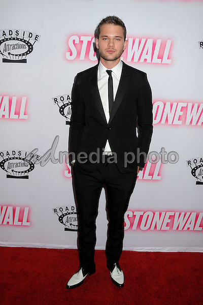 """23 September 2015 - West Hollywood, California - Jeremy Irvine. """"Stonewall"""" Los Angeles Premiere held at the Pacific Design Center. Photo Credit: Byron Purvis/AdMedia"""