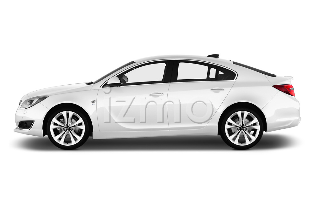 Car Driver side profile view of a 2016 Opel Insignia Cosmo 5 Door hatchback Side View