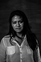PATRICIA TORRES LINARES, 33, one of the mujeres de Atenco stands for a portrait on July 14, 2016 in , Mexico City,  Mexico.<br /> She was a political science student at UNAM when she was detained and arrested in Atenco. Her thesis was based no the social movement that was protesting and resisting against the construction of an airport in Atenco. She was there the night of the 3rd and in the early morning of May 4th she heard and saw thousands of police men marching into the city, banging their batons, the sirens went off and the tear gas was sprayed. <br /> <br /> She went inside a house to hide, where she found another 16 people or so hiding. Then police officers went in and started interrogating everyone, asking for names, addresses, threatening them to kill and rape them, and making misogynist slurs like : &ldquo;bitches only good for making tortillas, you should be home,&rdquo; they also beat them all with the nightsticks. <br /> <br /> After being pulled into a bus with stacked up bodies lying everywhere,, they had to cover up thir faces with their own blouses or sweaters&hellip; and after a 6 or 7 hour ride they arrived to the prison facility. <br /> Once there, Patricia says was about to faint of the pain from all the beating, when an officer hold her and put his fingers in her vagina. <br /> &ldquo;I thought it would be worst if I fainted so I pulled myself together, its incredible what the body stands when you think you are going to die.&rdquo;<br /> <br /> When she asked where were they? Almoloya, someone answered. &ldquo;I was so shocked from all the bruises in my body, I was covered in them.&rdquo;<br /> Inside prison we watched then governor saying that it was a lie what these women were claiming about the sexual assaults..<br /> <br /> When Patricia&rsquo;s parents went to the facility to visit her she hid her bruises with a long-sleeved sweater and told them she was fine and that nothing had happened..<br /> <br /> After she got out of prison, Patrici