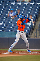 St. Lucie Mets Hansel Moreno (9) at bat during a Florida State League game against the Tampa Tarpons on April 10, 2019 at George M. Steinbrenner Field in Tampa, Florida.  St. Lucie defeated Tampa 4-3.  (Mike Janes/Four Seam Images)