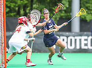 College Park, MD - May 19, 2018: Navy Julia Collins (22) scores a goal during the quarterfinal game between Navy and Maryland at  Field Hockey and Lacrosse Complex in College Park, MD.  (Photo by Elliott Brown/Media Images International)