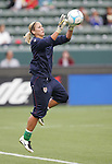 25 August 2007: Hope Solo. The United States Women's National Team defeated the Women's National Team of Finland 4-0 at the Home Depot Center in Carson, California in an International Friendly soccer match.