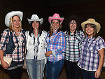 Roisín, Denise, Tracy and Maria Durnin and Joan Duff Durnin pictured at the barn dance at Oberstown farm. Photo:Colin Bell/pressphotos.ie