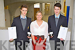 PRESIDENT'S AWARD: Students of CBS the Green, Tralee Jack O'Donnell and Sam Nealon with their principal Anne O'Callaghan who won the Sliver Gaisce President Award at the Bru Boru centre, Cashel on Thursday.