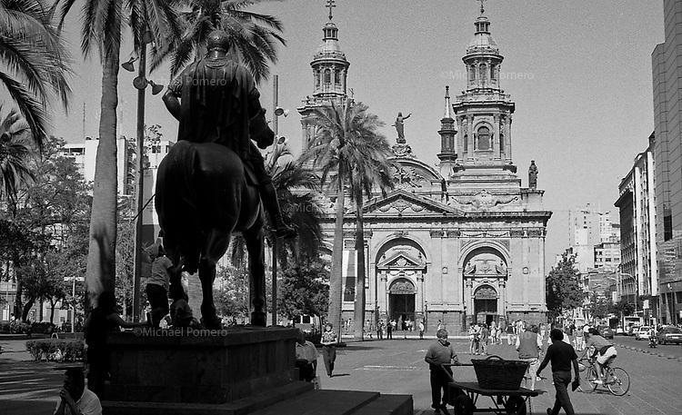01.2010 Santiago de chile (Chile)<br /> <br /> Cathedrale metropolitana.<br /> <br /> Metropolitana cathedral.