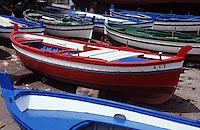 Europe/Italie/Sicile/Aci Trezza : Barques sur le port