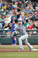 South Bend Cubs first baseman Matt Rose (5) during a game against the Dayton Dragons on May 11, 2016 at Fifth Third Field in Dayton, Ohio.  South Bend defeated Dayton 2-0.  (Mike Janes/Four Seam Images)