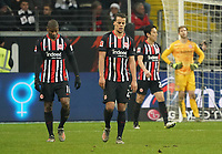 Frust bei Eintracht Frankfurt nach dem 2:4, Almamy Touré (Eintracht Frankfurt), Timothy Chandler (Eintracht Frankfurt), Makoto Hasebe (Eintracht Frankfurt), Torwart Felix Wiedwald (Eintracht Frankfurt) - 18.12.2019: Eintracht Frankfurt vs. 1. FC Koeln, Commerzbank Arena, 16. Spieltag<br /> DISCLAIMER: DFL regulations prohibit any use of photographs as image sequences and/or quasi-video.