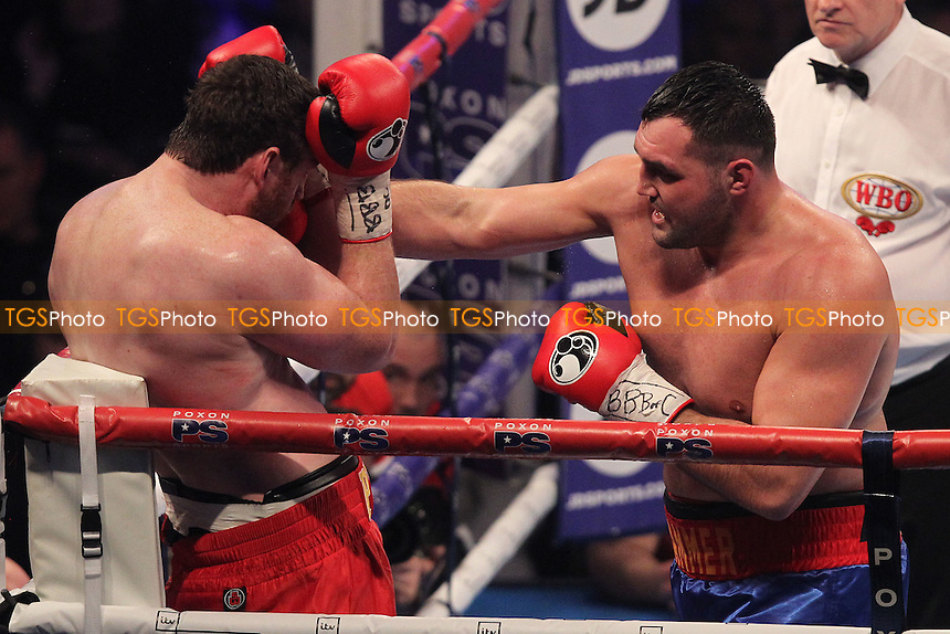 Christian Hammer vs David Price during a Boxing Show at Olympia on 4th February 2017
