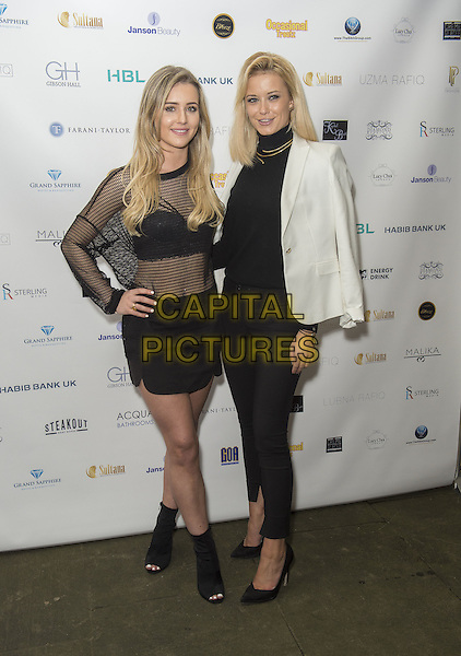 Tina Stinnes and Olivia Bentley attends the India, Pakistan and London Fashion Show (IPL Fashion Show) at The Gibson Hall in London, England on the 4th March 2017 <br /> CAP/GM/PP<br /> &copy;Gary Mitchell/PP/Capital Pictures