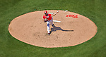 24 May 2015: Washington Nationals starting pitcher Gio Gonzalez on the mound against the Philadelphia Phillies at Nationals Park in Washington, DC. Gonzalez notched his 4th win of the season as the Nationals defeated the Phillies 4-1 to take the rubber game of their 3-game weekend series. Mandatory Credit: Ed Wolfstein Photo *** RAW (NEF) Image File Available ***