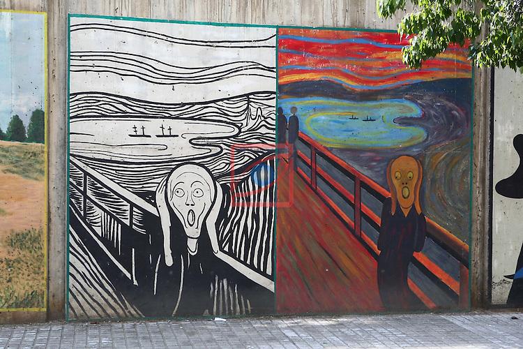 Street Art-Graffittis.<br /> Barcelona - La Teixonera - Vall d'Hebron.