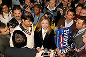 Washington, D.C. - March 25, 2008 -- Chelsea Clinton is surrounded by supporters after her mother, United States Senator Hillary Rodham Clinton (Democrat of New York), spoke at a fund-raiser at DAR Constitution Hall in Washington, D.C. on Wednesday, March 26, 2008..Credit: Ron Sachs / CNP.(RESTRICTION: NO New York or New Jersey Newspapers or newspapers within a 75 mile radius of New York City)