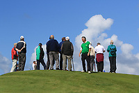 Supporters at the 5th green during the Munster Final of the AIG Barton Shield at Tralee Golf Club, Tralee, Co Kerry. 12/08/2017<br /> Picture: Golffile | Thos Caffrey<br /> <br /> <br /> All photo usage must carry mandatory copyright credit     (&copy; Golffile | Thos Caffrey)