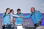 01.06.2012. Telecinco presents its official schedule for the transmission of Eurocup 2012 to the Ciudad del Futbol of Las Rozas, Madrid. In the image David Bisbal,  Andrés Iniesta, Iker Casillas and Vicente del Bosque  (Alterphotos/Marta Gonzalez)
