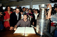 Patrick Roy attend  the 1993 Stanley Cup parade
