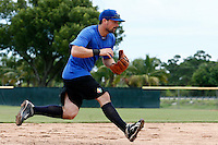 19 September 2012: France Florian Peyrichou warms up prior to Team France friendly game won 6-3 against Palm Beach State College, during the 2012 World Baseball Classic Qualifier round, in Lake Worth, Florida, USA.