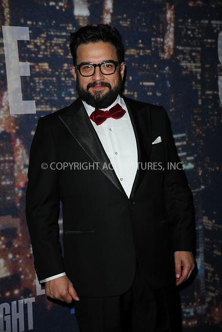 WWW.ACEPIXS.COM<br /> February 15, 2015 New York City<br /> <br /> Horatio Sanz walking the red carpet at the SNL 40th Anniversary Special at 30 Rockefeller Plaza on February 15, 2015 in New York City.<br /> <br /> Please byline: Kristin Callahan/AcePictures<br /> <br /> ACEPIXS.COM<br /> <br /> Tel: (646) 769 0430<br /> e-mail: info@acepixs.com<br /> web: http://www.acepixs.com