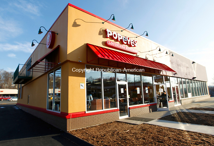 Waterbury, CT-09 December 2011-120911CM03-  Popeye's Louisiana Kitchen opens today in the Mattatuck Plaza on Wolcott St. in Waterbury.  The newly opened fast food chain will replace the former  Hollywood Video store.  Christopher Massa Republican-American