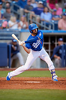 Tulsa Drillers second baseman Michael Ahmed (1) at bat during a game against the Corpus Christi Hooks on June 3, 2017 at ONEOK Field in Tulsa, Oklahoma.  Corpus Christi defeated Tulsa 5-3.  (Mike Janes/Four Seam Images)