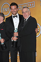 Bradley Cooper &amp; Robert De Niro at the 20th Annual Screen Actors Guild Awards at the Shrine Auditorium.<br /> January 18, 2014  Los Angeles, CA<br /> Picture: Paul Smith / Featureflash