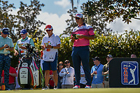 Hideki Matsuyama (JPN) looks over his tee shot on 2 during round 3 of the Arnold Palmer Invitational at Bay Hill Golf Club, Bay Hill, Florida. 3/9/2019.<br /> Picture: Golffile | Ken Murray<br /> <br /> <br /> All photo usage must carry mandatory copyright credit (&copy; Golffile | Ken Murray)