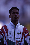 United Arab Emirates vs Kuwait during their AFC Asian Cup 1996 Group A match at Sheikh Zayed Stadium on 07 December 1996, in Abu Dhabi, United Arab Emirates. Photo by Stringer / World Sport Group