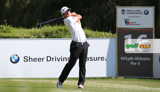 Pelle Edberg (SWE) in action during Round Two of the 2016 BMW SA Open hosted by City of Ekurhuleni, played at the Glendower Golf Club, Gauteng, Johannesburg, South Africa.  08/01/2016. Picture: Golffile | David Lloyd<br /> <br /> All photos usage must carry mandatory copyright credit (&copy; Golffile | David Lloyd)