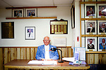 "Darrel Nelson is a greeter at The Sun City Elks Lodge 2559 in Sun City, Arizona, seen January 10, 2010. The almost 3,000 member lodge hosts BINGO, dances, brunch every Sunday, as well as the club meetings twice a month..Nelson, who is from Dixon, Illinois, has lived in Sun City for 30 years. ""It's a real nice place,"" he said. ""A firnedly place with a lot of amenities."" In the 30 years since he moved to Sun City the area around it has sprung up. 30 years ago, Bell Road, a major road with restaurants and four lanes, used to be a two lane gravel road in 1980 he said. ""we used to sit out here by ourselves and now we're completely surrounded by communities. There's just lots of growth,"" he said."