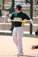 Josh Leyland, Oakland Athletics 2010 extended spring training..Photo by:  Bill Mitchell/Four Seam Images.