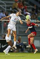 Boyds, MD - Saturday July 02, 2016: Mandy Laddish, Joanna Lohman during a regular season National Women's Soccer League (NWSL) match between the Washington Spirit and FC Kansas City at Maureen Hendricks Field, Maryland SoccerPlex.