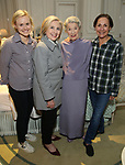 Hillary Clinton backstage with Alison Pill, Glenda Jackson and Laurie Metcalf from the cast of 'Edward Albee's Three Tall Women' at the John Golden Theatre on June 5, 2018 in New York City.