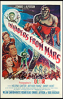 BNPS.co.uk (01202 558833)<br /> Pic: Bonhams/BNPS<br /> <br /> Invaders From Mars, 1955, estimate &pound;1,200.<br /> <br /> A wacky collection of sci-fi and horror genre B movie posters from the 'Golden Age of Hollywood' have emerged for sale. <br /> <br /> The 15-strong assortment of obscure advertisements spans from 1933 until 1966 and are worth up to &pound;5,000 each. <br /> <br /> B movies were characterised by their low-budget and extravagant posters, which were often better received than the actual film. <br /> <br /> The most expensive is an 83ins by 39ins poster for the 1933 film Ghoul, which is expected to fetch &pound;5,000. <br /> <br /> The posters have been consigned to auction by a selection of UK sellers to auctioneer Bonhams.