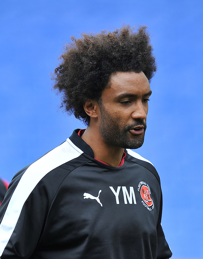 Fleetwood Town's Sports Scientist Youl Mawene<br /> <br /> Photographer Dave Howarth/CameraSport<br /> <br /> Football - The Football League Sky Bet League One - Oldham Athletic v Fleetwood Town - Saturday 15th August 2015 - SportsDirect.com Park - Oldham<br /> <br /> &copy; CameraSport - 43 Linden Ave. Countesthorpe. Leicester. England. LE8 5PG - Tel: +44 (0) 116 277 4147 - admin@camerasport.com - www.camerasport.com