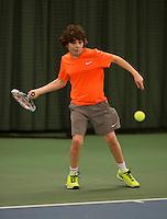 March 6, 2015, Netherlands, Rotterdam, TC Victoria, NOJK, Xavier Verwater (NED) vs  Leon den Ouden (NED)<br /> Photo: Tennisimages/Henk Koster