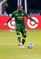 13th July 2020, Orlando, Florida, USA;  Portland Timbers defender Chris Duvall (15) passes the ball during the MLS Is Back Tournament between the LA Galaxy versus Portland Timbers on July 13, 2020 at the ESPN Wide World of Sports, Orlando FL.
