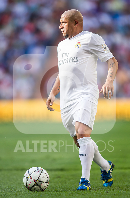 Roberto Carlos during the Corazon Classic Match 2016 at Estadio Santiago Bernabeu between Real Madrid Legends and Ajax Legends. Jun 5,2016. (ALTERPHOTOS/Rodrigo Jimenez)