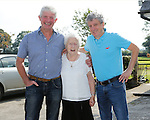 11/09/2014<br /> Mary Catherine Buckley from Chancellors Land, Emly, Co. Tipperary who celebrated her 100th Birthday on 11/09/2014. Pictured here with neighbour Tadhg O'Meara and Irish Independent's Billy Keane.<br /> Pic: Don Moloney/Press 22