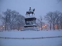 Logan Circle on a snowy morning, Washington, DC