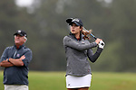 CHAPEL HILL, NC - OCTOBER 13: South Carolina's Marion Veysseyre (FRA) on the 12th tee. The first round of the Ruth's Chris Tar Heel Invitational Women's Golf Tournament was held on October 13, 2017, at the UNC Finley Golf Course in Chapel Hill, NC.