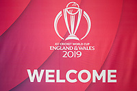 Welcome sign to the ICC World Cricket Cup 2019 during South Africa vs West Indies, ICC World Cup Warm-Up Match Cricket at the Bristol County Ground on 26th May 2019