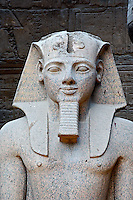 Pharoah statue, Luxor Temple at modern day Luxor or ancient Thebes, Egypt