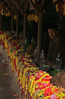 Flowers for offerings at the Dahsa Kali Animal Sacrifice Temple