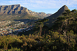CAPE TOWN, SOUTH AFRICA MAY 23: A view of Table Mountain and of Lions head mountain on May 23, 2014 in Cape Town, South Africa. The city offers many different hiking trails close to the city center. (Photo by: Per-Anders Pettersson)
