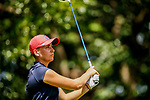 STILLWATER, OK - MAY 23: Gigi Stoll of Arizona tees off during the Division I Women's Golf Team Match Play Championship held at the Karsten Creek Golf Club on May 23, 2018 in Stillwater, Oklahoma. (Photo by Shane Bevel/NCAA Photos via Getty Images)