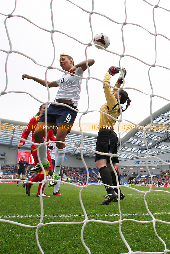 Lianne Sanderson finds the net for England but her effort is disallowed - England Women vs Montenegro Women - FIFA Womens World Cup 2015 Qualifying Group 6 Football at The Amex, Falmer Stadium, Brighton & Hove Albion FC - 05/04/14 - MANDATORY CREDIT: Gavin Ellis/TGSPHOTO - Self billing applies where appropriate - 0845 094 6026 - contact@tgsphoto.co.uk - NO UNPAID USE