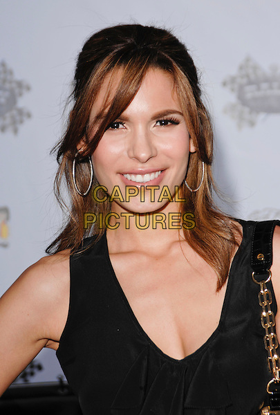 "NADINE VELASQUEZ .arriving at the ""The Qualifiers"" Draft Party for the Rally For Kids With Cancer at the Hollywood Roosevelt Hotel in Hollywood, California, USA, .May 1st 2009..portrait headshot  black top .CAP/ROT.©Lee Roth/Roth Stock/Capital Pictures"