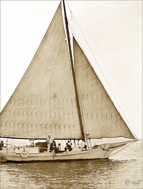 "Ida May ghosting along in this Fine Art, Limited Edition Skipjack print from the ""Skipjack Sunday"" collection."