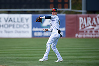 Kane County Cougars shortstop Blaze Alexander (5) before a Midwest League game against the Cedar Rapids Kernels at Northwestern Medicine Field on April 28, 2019 in Geneva, Illinois. Kane County defeated Cedar Rapids 3-2 in game one of a doubleheader. (Zachary Lucy/Four Seam Images)