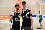 04.01.2019, Den Haag, Sportcampus Zuiderpark<br />Beachvolleyball, FIVB World Tour, 2019 DELA Beach Open<br /><br />Jubel Clemens Wickler (#2), Julius Thole (#1) nach Sieg<br /><br />  Foto © nordphoto / Kurth
